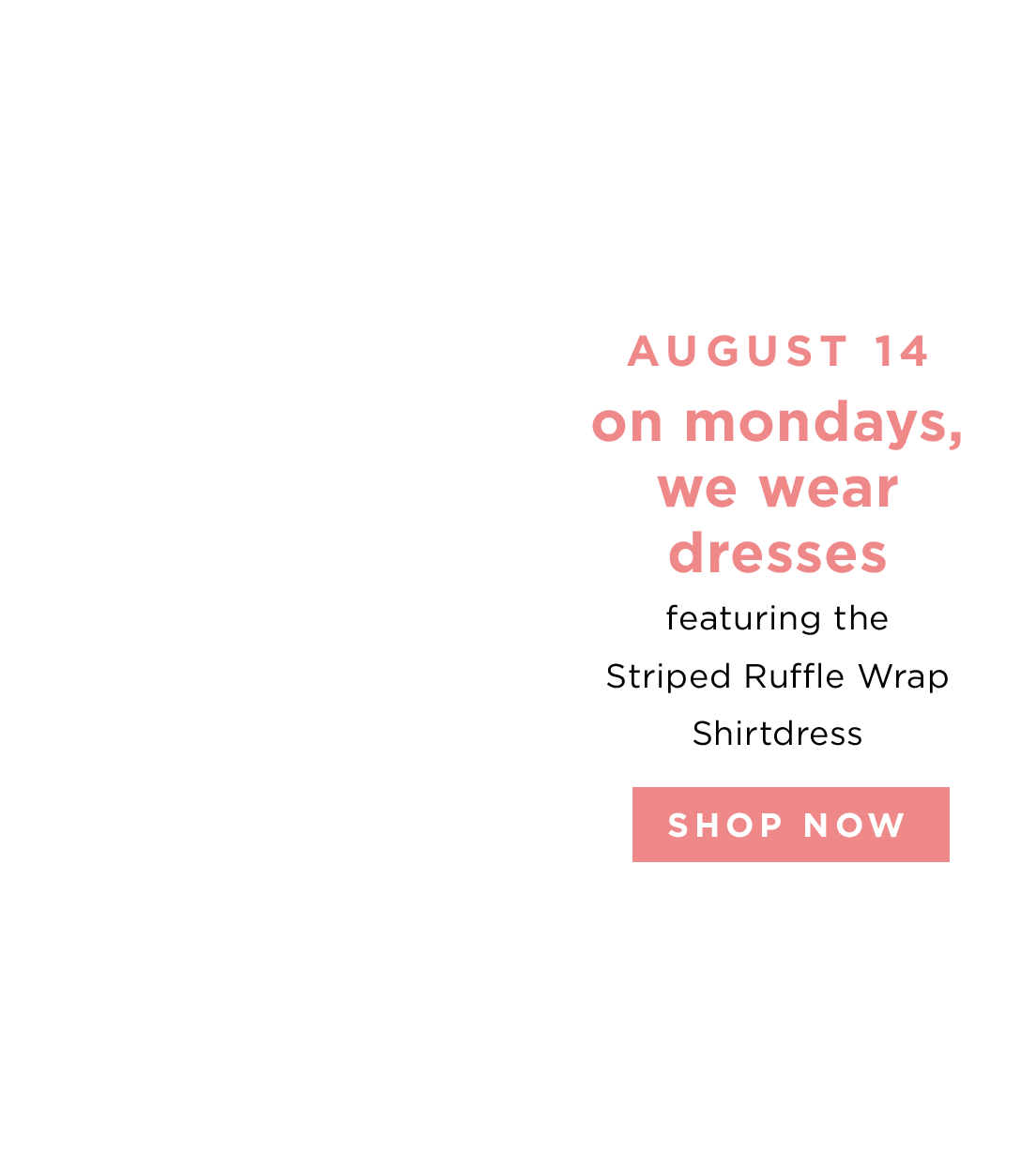 AUGUST 14 - SHOP NOW