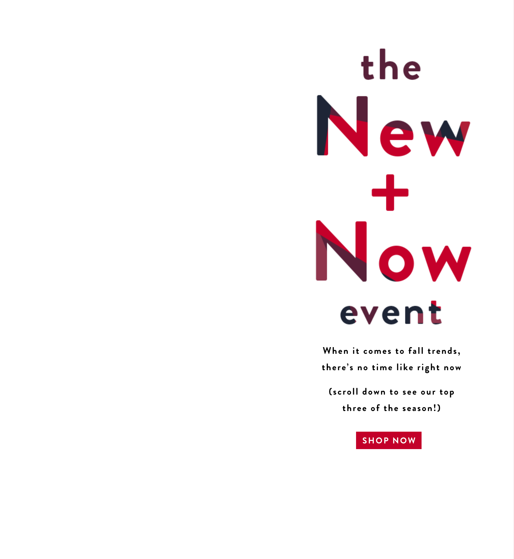 THE NEW + NOW EVENT