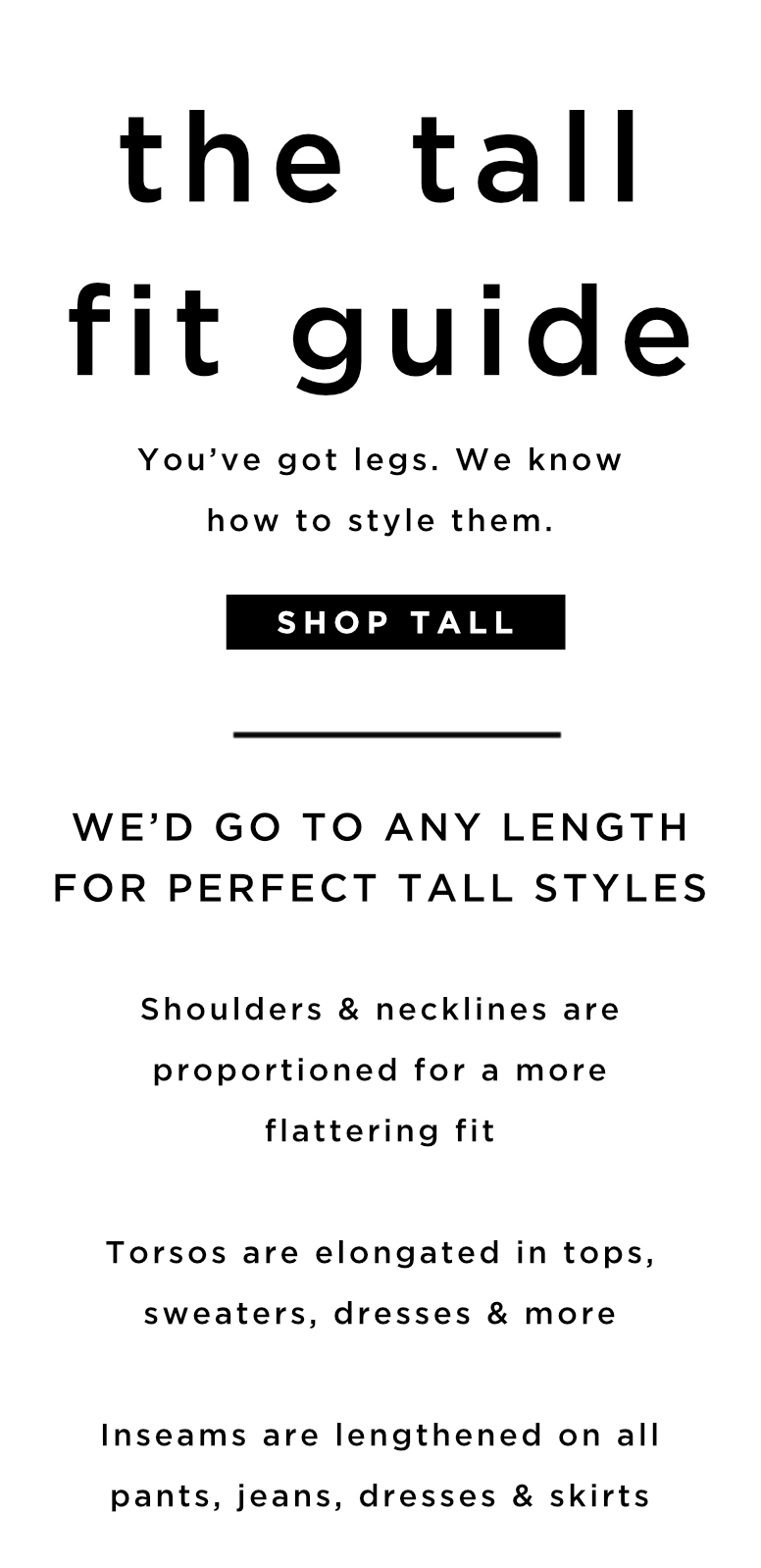 Tall Clothing Fit Guide For Women Loft
