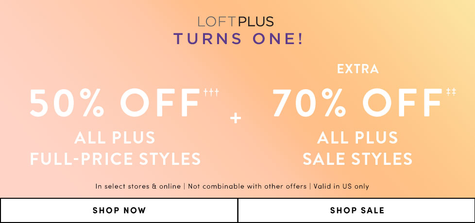 82b2ad4a747 50% Off Full Price Plus Styles + Extra 70% Off Plus Sale Styles