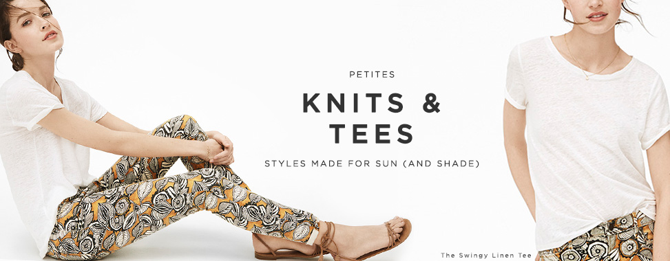 PETITE KNITS AND TEES