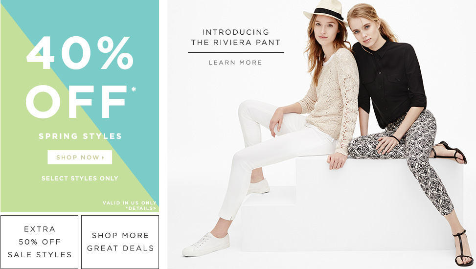 Head to Ann Taylor LOFT to save an extra 50% off already reduced sale