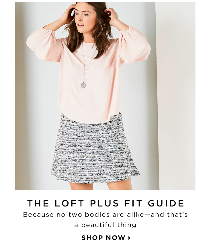 Save 15% off the first Tuesday each month with the Loft card.
